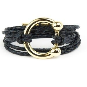 CORSO NWT leather gold bracelet horseshoe